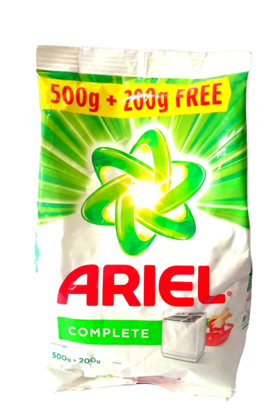 Ariel Complete Detergent Washing Powder - 500g with Free Detergent Powder - 200g free