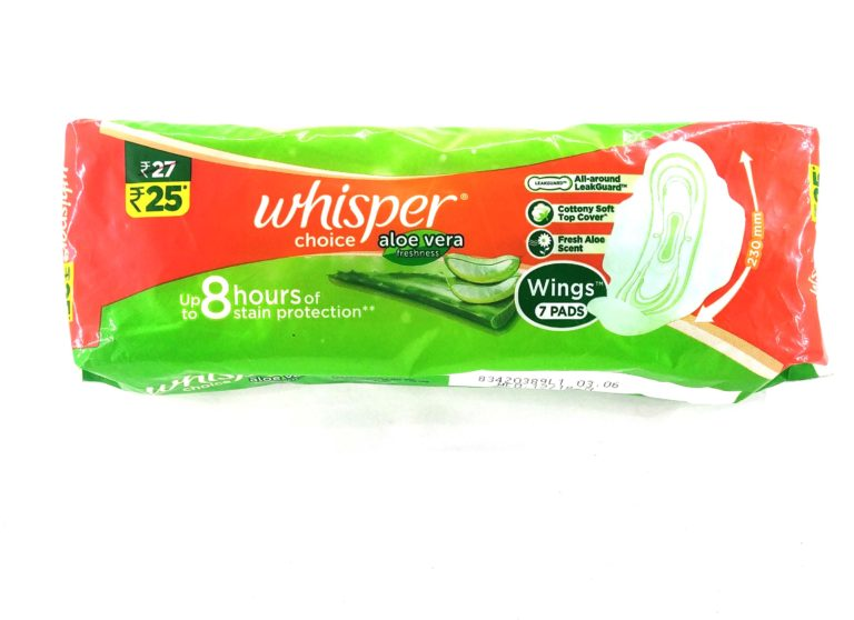 Whisper Choice Aloe Vera Freshness 7 Pads
