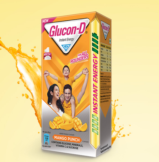 Glucon-D Glucose Based Beverage Mix - 1 kg Carton (Mango)