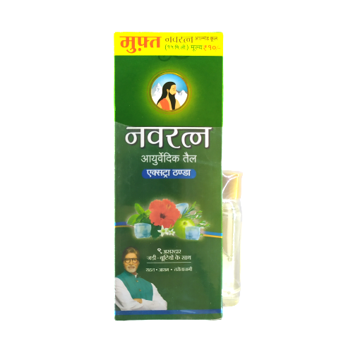 Navratna Ayurvedic Oil Extra Thanda 100ml + (15ml Almond Oil Free)