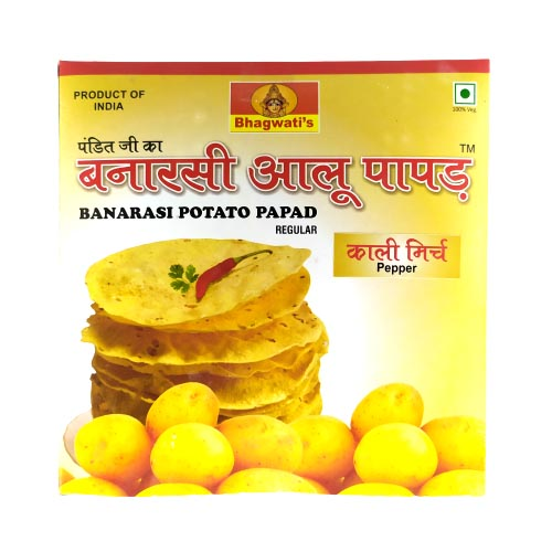 Banarasi Potato Papad (Aloo Papad)- Kali Mirch (250g)