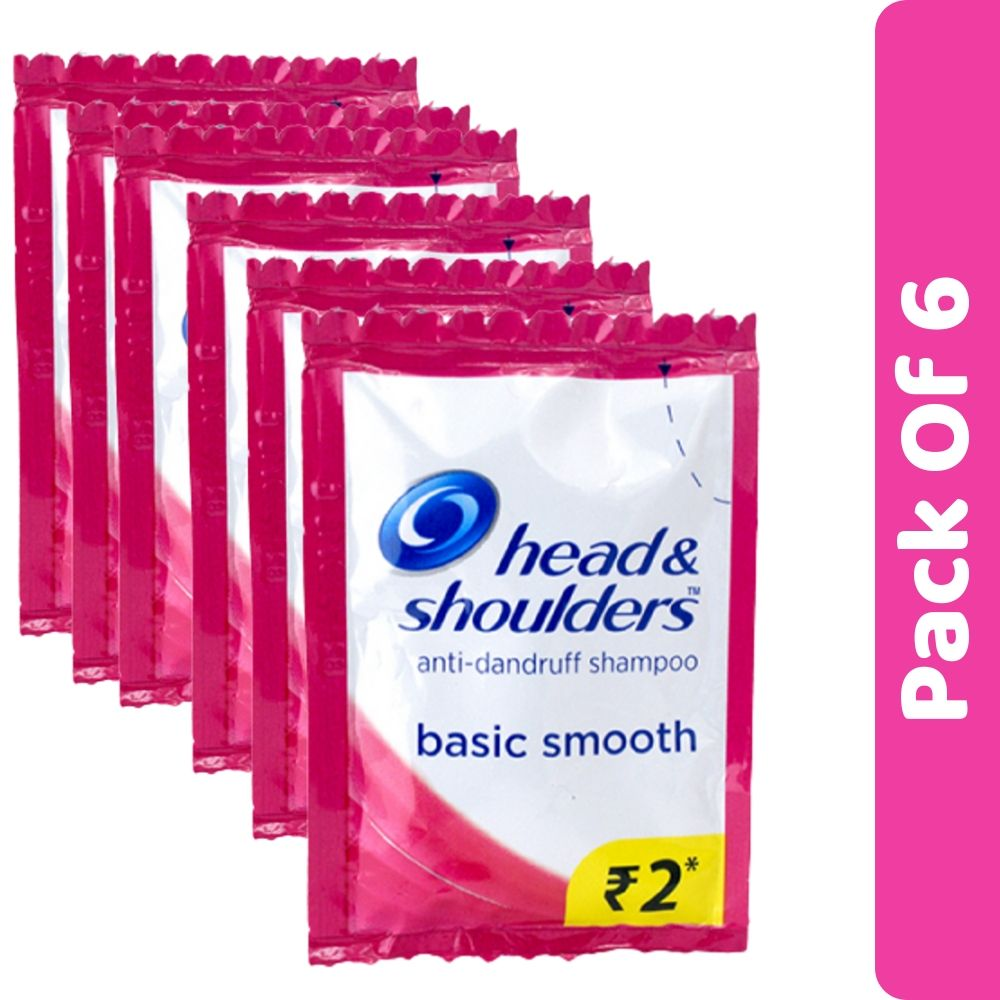 Head & Shoulders Basic Smooth Shampoo Sachet 5ml (Pack Of 6)