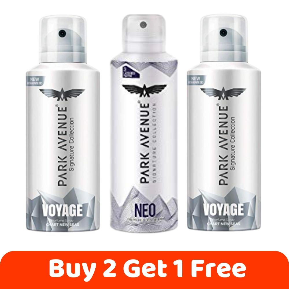 Buy 1 Get 1 Free, Park Avenue 1 Neo and 2 Voyage Deo For Men, 3x150ML