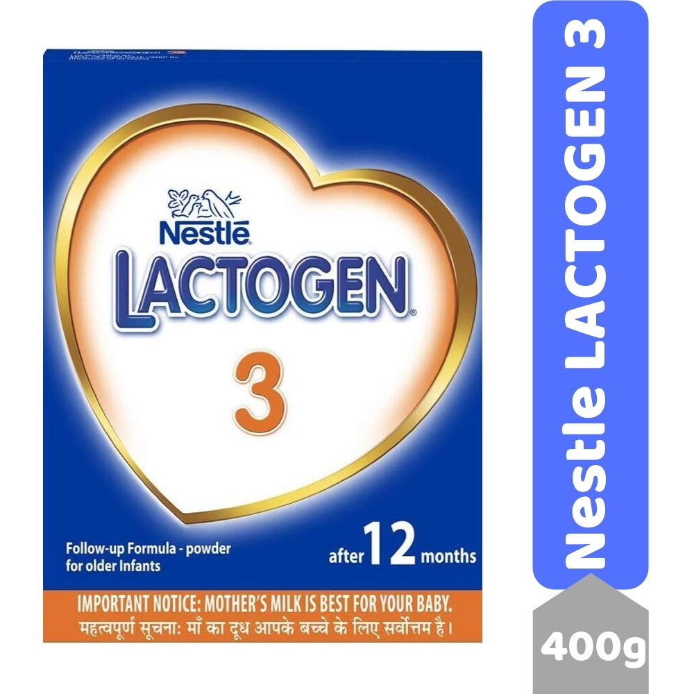 Nestle LACTOGEN 3 Follow-Up Formula Powder - After 12 months, Stage 3, 400g