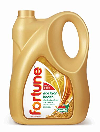 Fortune Health Refined Rice Bran Oil Jar- 5L