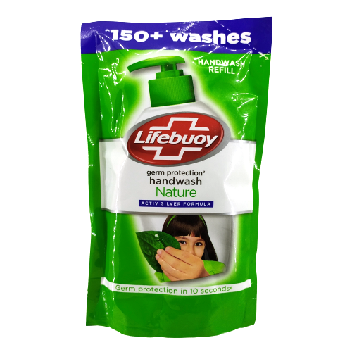 Lifebuoy Nature Hand Wash Refill Pouch, 185ml