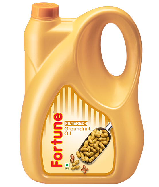 Fortune Goldnut Refined Groundnut Oil, 5L Jar