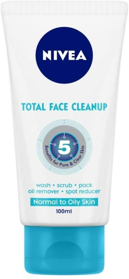 Nivea Face Wash Total Face Clean Up, 50ml